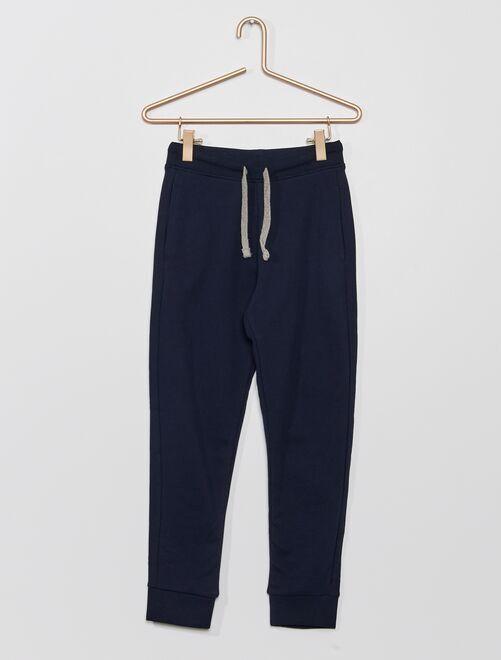 Pantalón de deporte de felpa 'eco-concepción'                                                                                                     azul