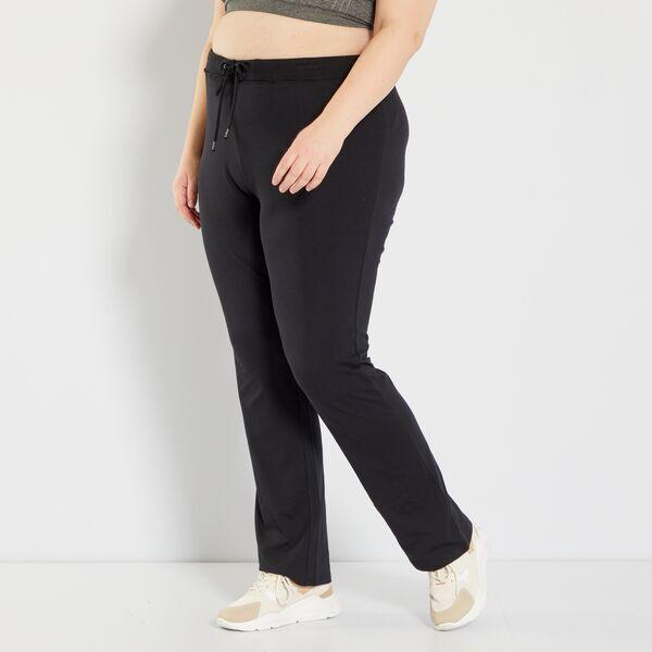 Pantalon De Deporte De Felpa Eco Concepcion Tallas Grandes Mujer Negro Kiabi 10 00