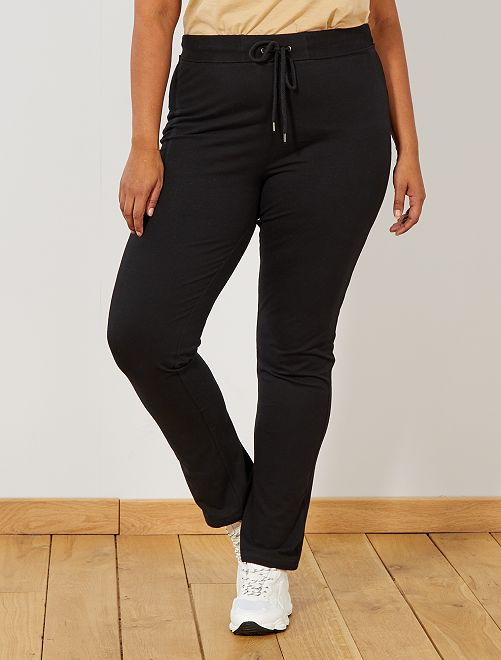 Pantalón de deporte de felpa 'eco-concepción'                             negro