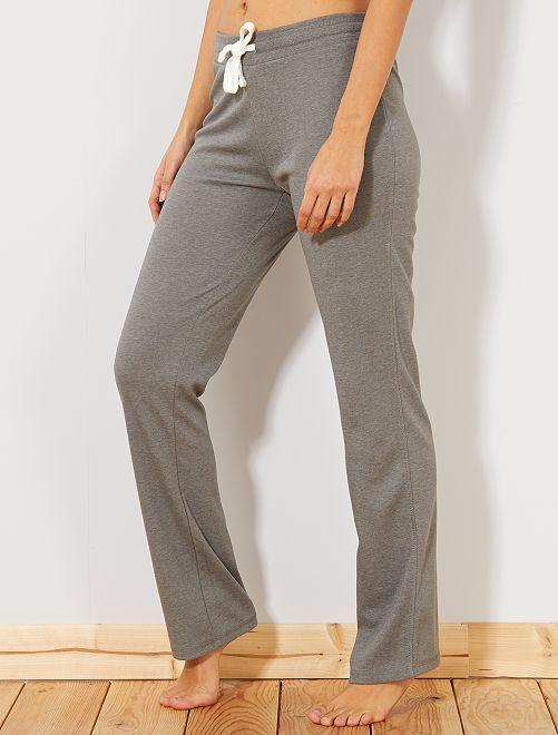 Pantalón de deporte de felpa fino                                         GRIS Mujer talla 34 a 48