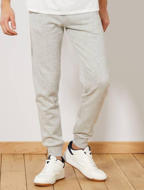 Pantalón de deporte de felpa                             GRIS Hombre