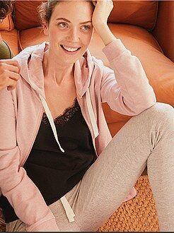 Mujer - Pantalón de deporte de felpa - Kiabi