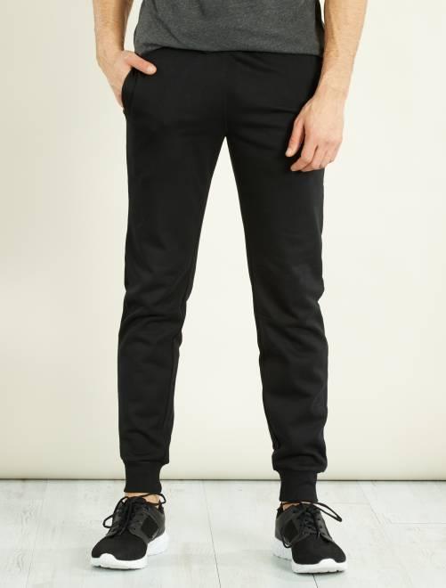 Pantalón de deporte de felpa                                                                 negro Hombre