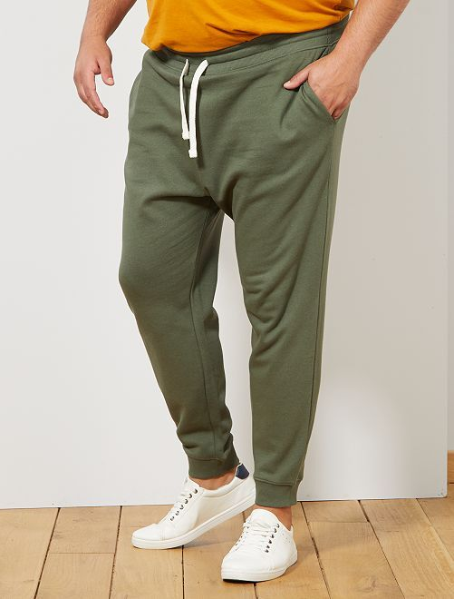 Pantalón de deporte de felpa                                                                 verde tomillo