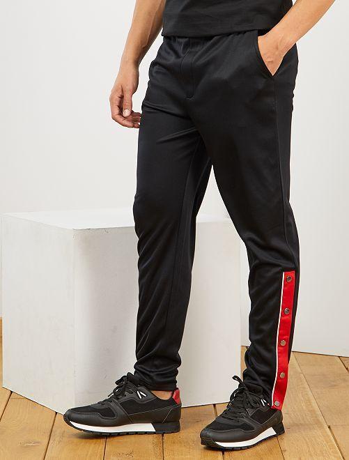 Pantalón de deporte estilo vintage                     negro