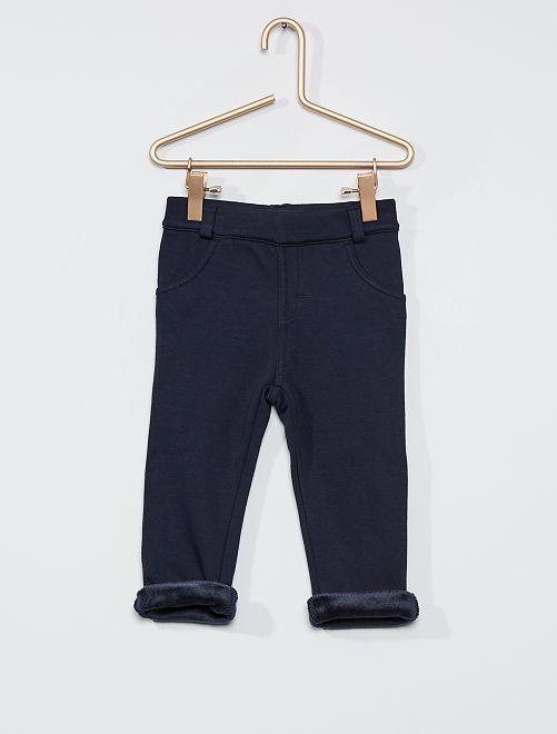 Pantalón de felpa abrigado                                                     azul