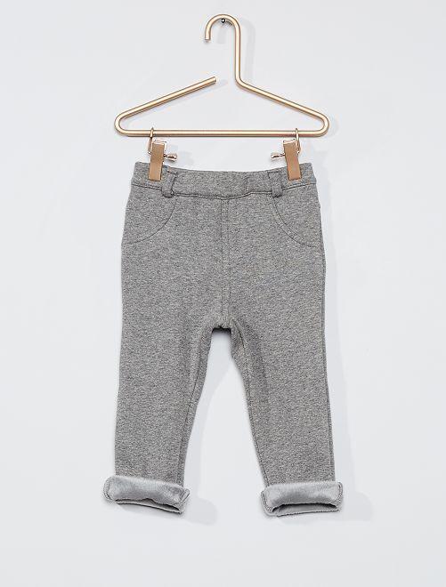 Pantalón de felpa abrigado                                                     GRIS