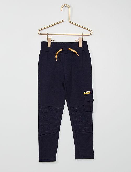 Pantalón de felpa                             azul marino