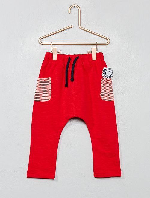 Pantalón de felpa con bolsillo de adorno                                         GRIS Bebé niño