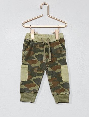 Pantalón de felpa de camuflaje - Kiabi