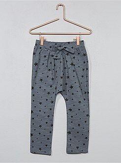 Pantalón de felpa de 'estrellas' - Kiabi