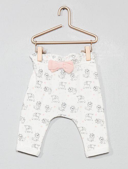 Pantalón de felpa 'Disney Baby'                             BLANCO Bebé niña