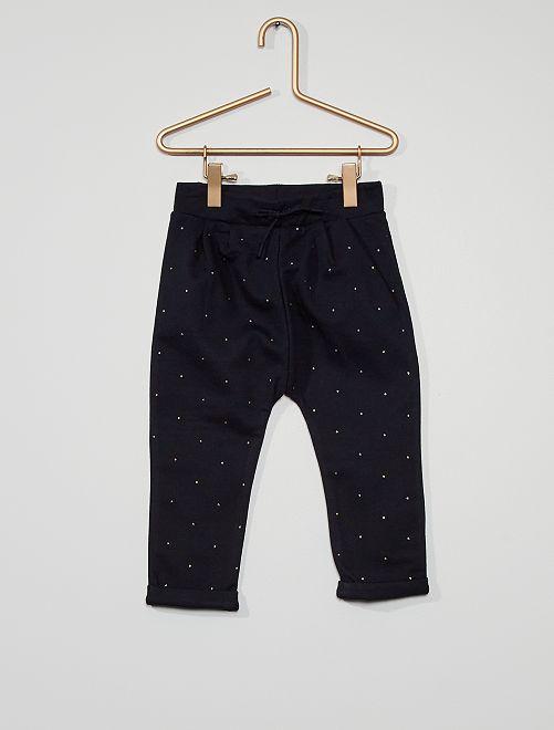 Pantalón de felpa eco-concepción                                                     azul lunar