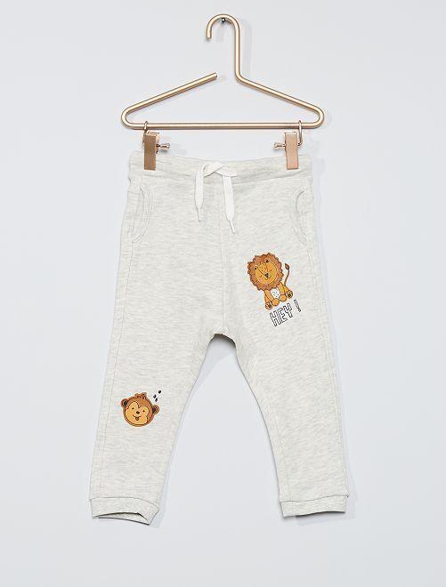 Pantalón de felpa eco-concepción                                                                             BEIGE