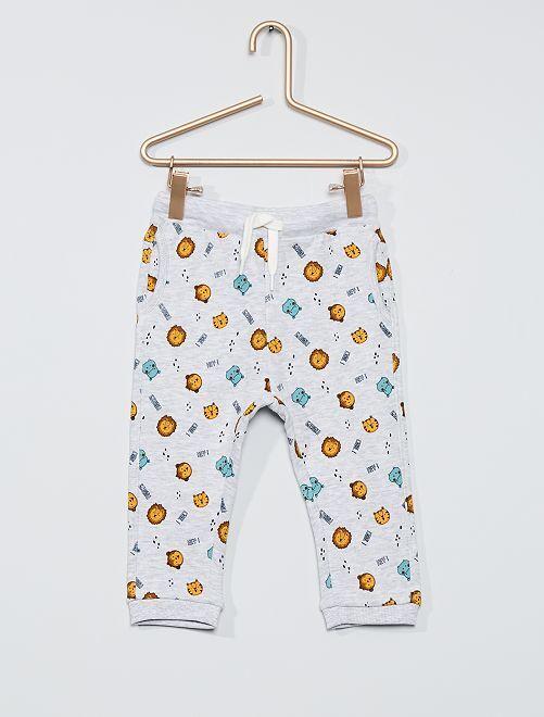 Pantalón de felpa eco-concepción                                                                             GRIS