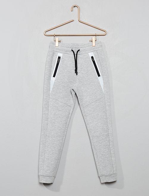 Pantalón de felpa efecto neopreno                                 GRIS