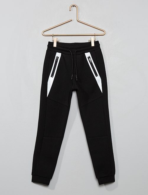 Pantalón de felpa efecto neopreno                                         negro