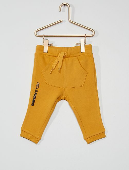 Pantalón de felpa fantasía eco-concepción                                                                                         AMARILLO