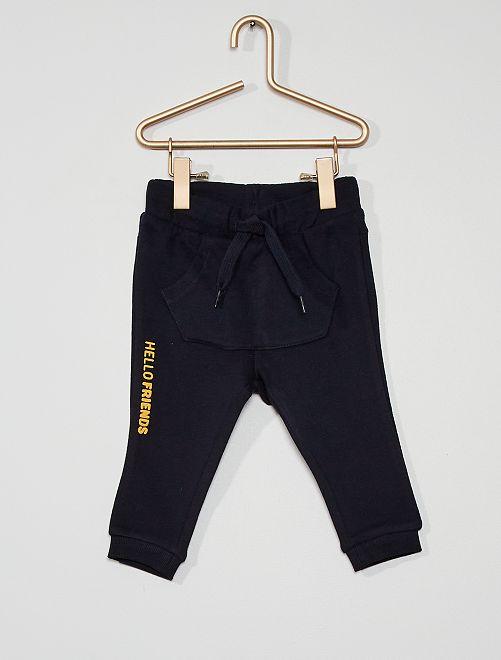 Pantalón de felpa fantasía eco-concepción                                                                                         AZUL