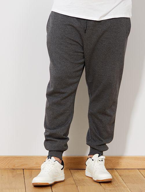 Pantalón de felpa                                         gris Tallas grandes hombre