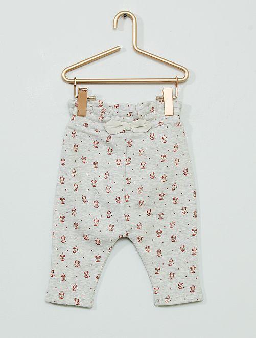Pantalón de felpa 'Minnie' eco-concepción                             GRIS