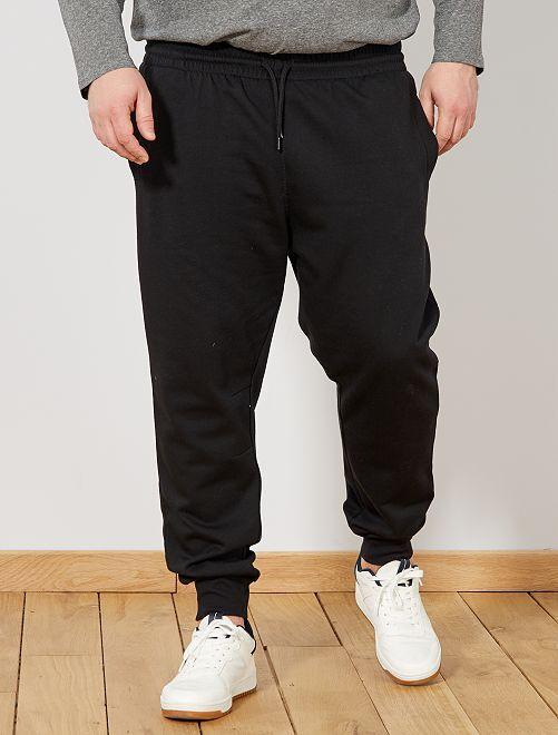 Pantalón de felpa                             negro Tallas grandes hombre