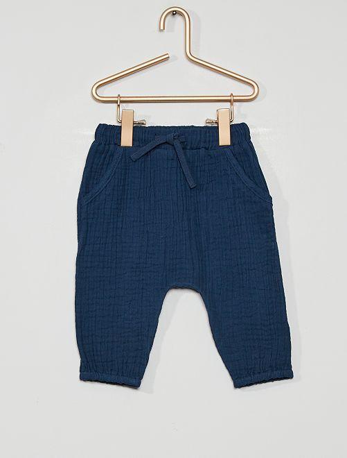 Pantalón de fieltro eco-concepción                                                     azul