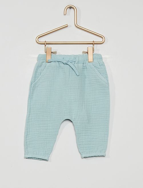 Pantalón de fieltro eco-concepción                                                     gris azul