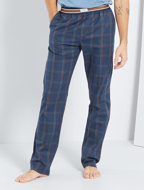 Pantalón de franela                                         AZUL