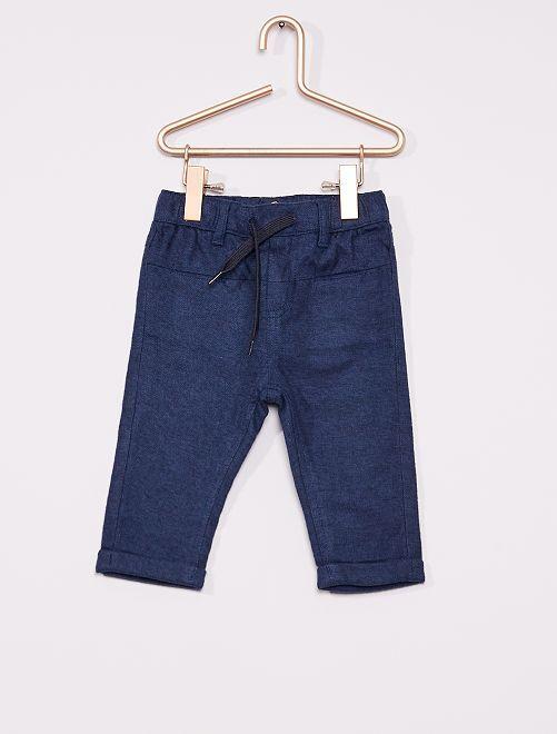 Pantalón de franela eco-concepción                                                                 AZUL