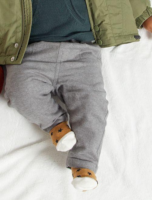 Pantalón de franela                                         GRIS