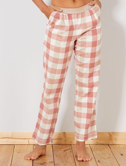 Pantalón de franela                                             ROSA Lencería de la s a la xxl