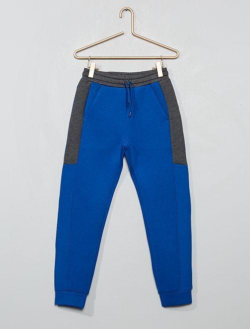 Pantalón de jogging bicolor                                                     azul