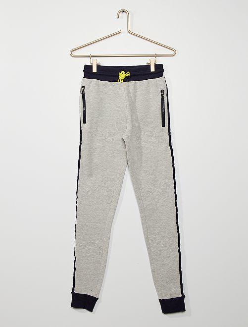 Pantalón de jogging bicolor                             gris