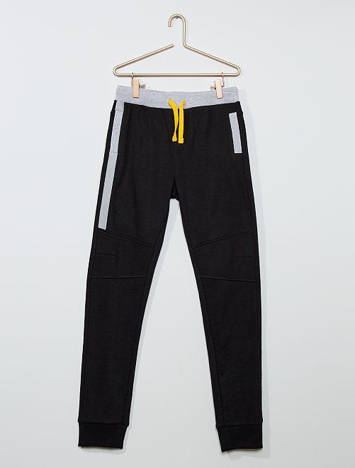 Pantalón de jogging bicolor                     negro