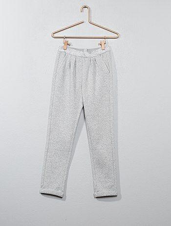 Pantalón de jogging brillante con pinzas - Kiabi