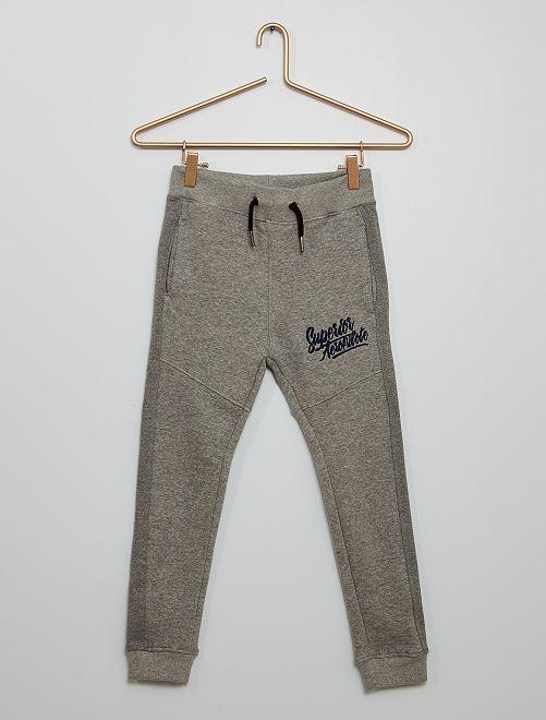 Pantalón de jogging con aberturas                                                     gris