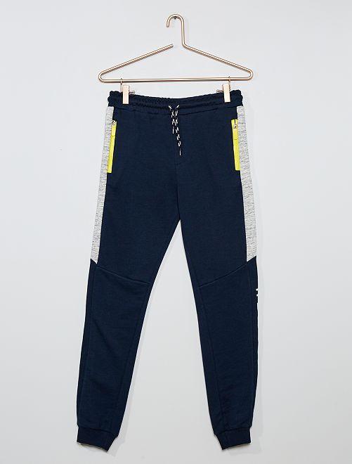 Pantalón de jogging con banda                             azul