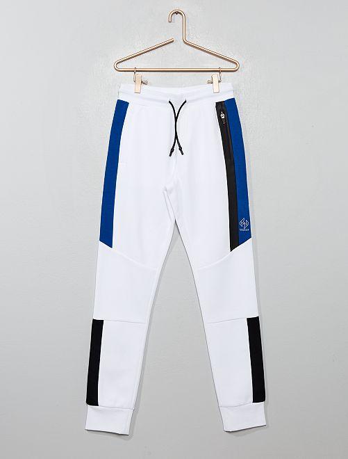 Pantalón de jogging con bandas                                                                 BLANCO