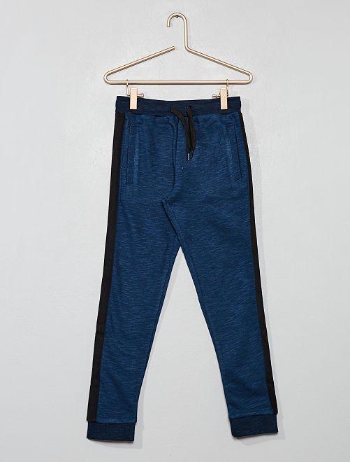 Pantalón de jogging con bandas laterales                                         AZUL Chico