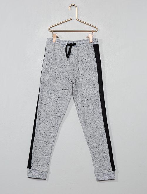 Pantalón de jogging con bandas laterales                                         GRIS Chico