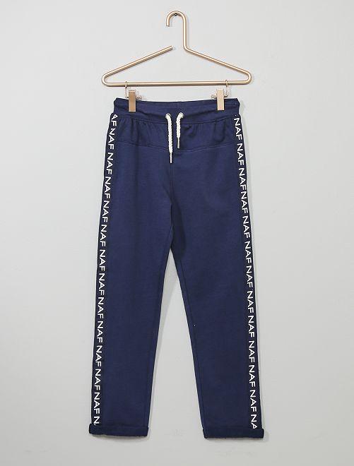 Pantalón de jogging con bandas 'Naf Naf'                             azul