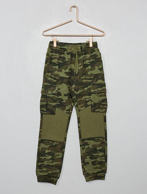 Pantalón de jogging con bolsillos                                 caqui camuflaje