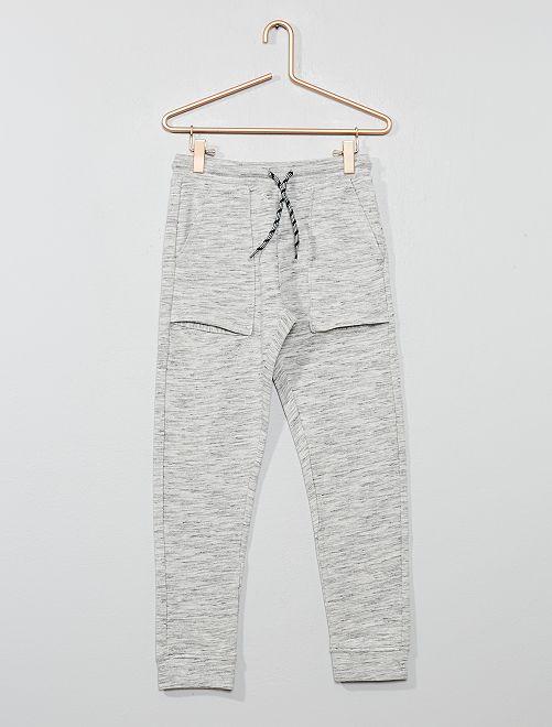 Pantalón de jogging con bolsillos grandes                                         GRIS