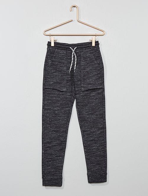 Pantalón de jogging con bolsillos grandes                                                     gris mezclado oscuro Chico
