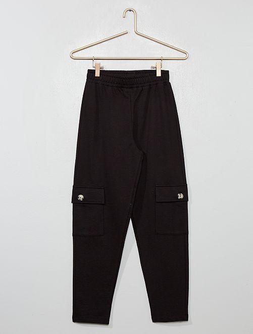 Pantalón de jogging con bolsillos                                         negro