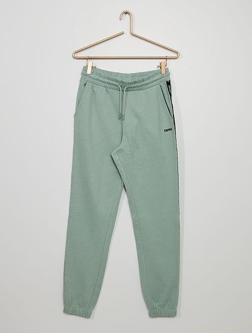 Pantalón de jogging con franja estampada                                                                                                                 AZUL