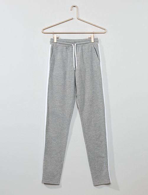 Pantalón de jogging con franja                                                     GRIS