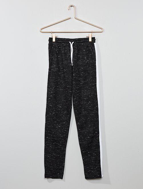 Pantalón de jogging con franja                                                                 NEGRO Joven niña