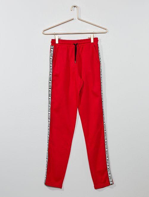 Pantalón de jogging con franja                     ROJO